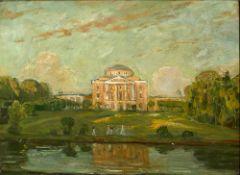 VASILI NIKITOVICH KUCHUMOV (1888-1959) Pavlovsk. View of the palace. Early XX century [...]