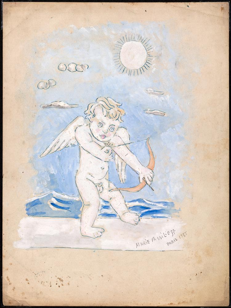 MARIE VASSILIEFF (1884-1957) Cupid - signed, inscribed and dated 'Paris 1955', [...]