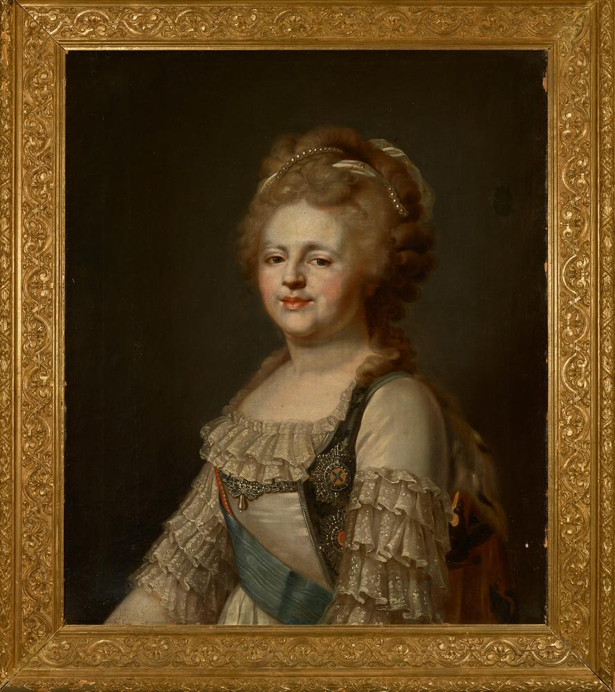 ATTRIBUTED TO JOHANN BAPTIST VON LAMPI (1751-1830) Portrait of the Empress Maria [...] - Image 2 of 3