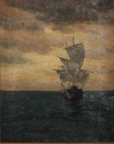 JAKOB KOGANOWSKY (1874-1926) Ship at Sea - signed 'Y. Koganowsky'(lower [...]