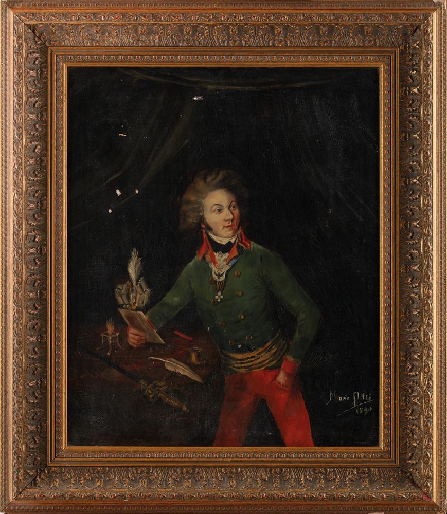 MAILLE MARIE PILTET, XIX CENTURY Portrait of Count Roger de Damas (1765—1823). Late [...] - Image 2 of 2