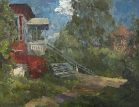 SERGEI LASTOCHKINE (1927-1992) Repin's Dacha near St Petersburg - signed in [...]