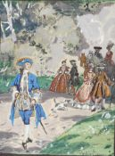 AUGUSTE LEROUX (1871-1954) - Untitled (Promenade) Signed 'Auguste Leroux' (lower [...]