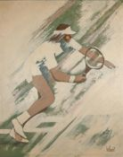 UNKNOWN ARTIST, XX CENTURY - Tennis player Indistinctly signed 'Ive Tonolos' [...]