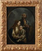ITALIAN SCHOOL, EARLY 19TH CENTURY - The Holy Family Oil on panel 36,5 x 30 cm -