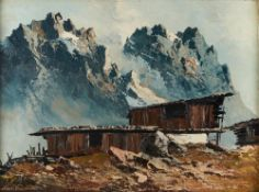 GEORG ARNOLD-GRABONÉ (1896-1982) - Alpine Mountain View Signed 'Arnold Graboné' [...]