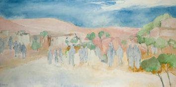 EVELYNE WIDMAIER (BORN 1947) - Mirage a Marrakech Signed 'E. Widmaier' (lower [...]