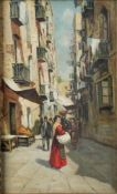 NEAPOLITAN SCHOOL, LATE 19TH CENTURY - Untitled (Neapolitan street scene) Oil on [...]