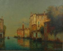 ANTOINE BOUVARD (1870-1955/56) - Canal in Venice Signed (lower right) Oil on [...]