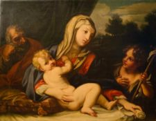 BOLOGNESE SCHOOL, 17TH CENTURY - The Holy Family with the Infant Saint John the [...]