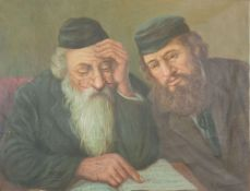 KONSTANTIN SZEWCZENKO (1915-1991) - Rabbi and Jewish man reading Signed 'K. [...]