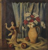 STAN PORAY (1888-1948) - Still life with Oriental figure Signed 'Stan P. Poray' [...]