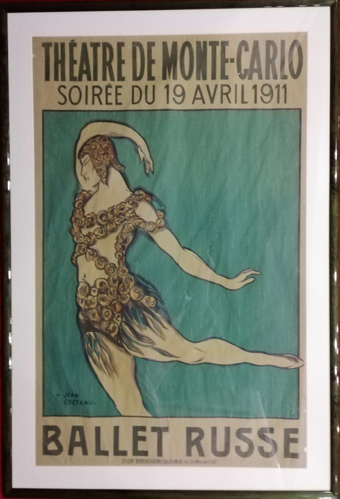 JEAN COCTEAU (1889-1963) THEATRE DE MONTE-CARLO, Soirée du 19 avril 1911 BALLET RUSSEVaslav Nijinsky - Image 2 of 2