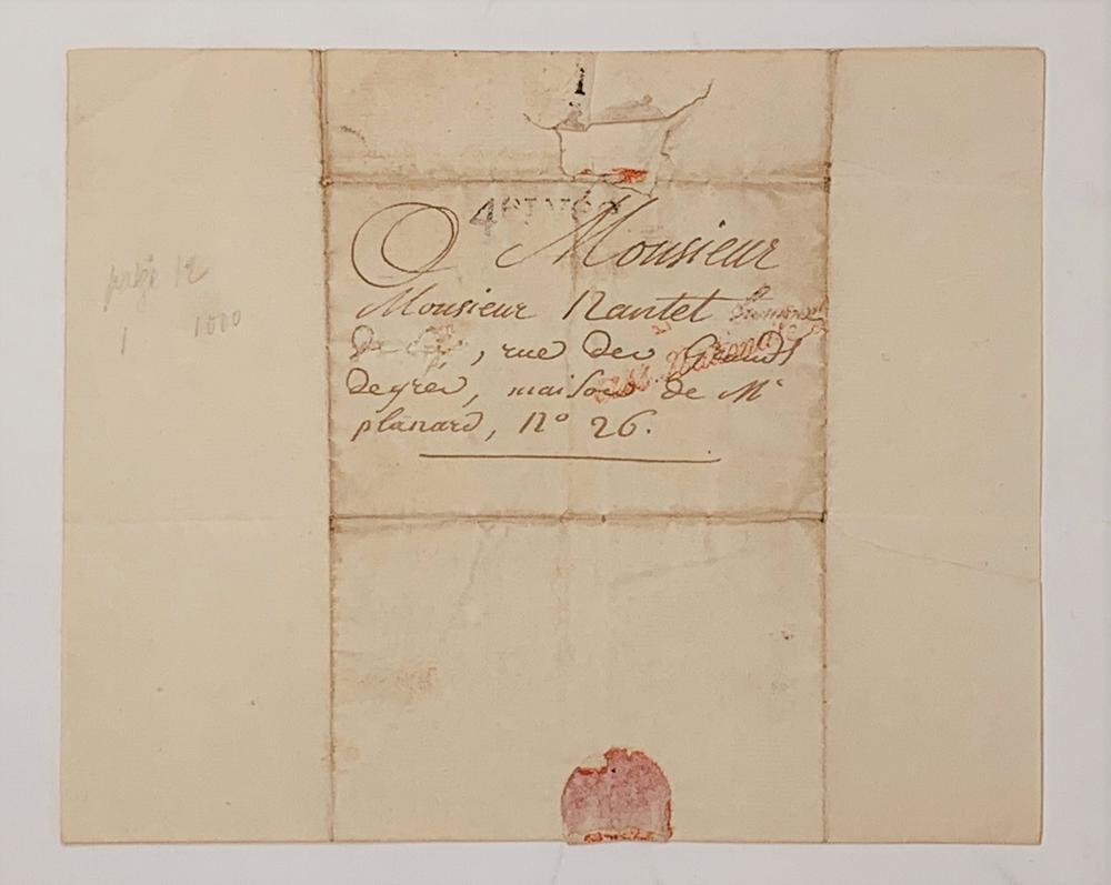 HENRI JEAN-BAPTISTE GRÉGOIRE (KNOWN AS ABBÉ GRÉGOIRE) (1750-1831)Autograph letter signed to Mr - Image 2 of 2