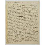 HENRI JEAN-BAPTISTE GRÉGOIRE (KNOWN AS ABBÉ GRÉGOIRE) (1750-1831)Autograph letter signed, in French,