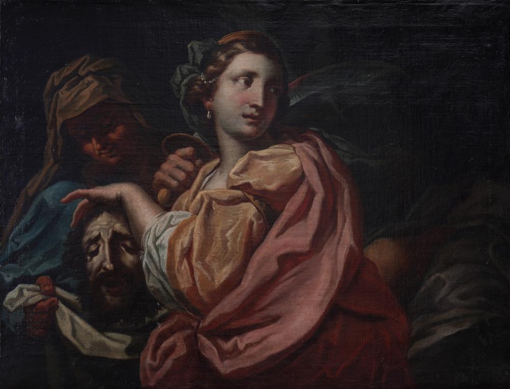 VENETIAN SCHOOL, 17th CENTURY Judith with the head of Holofernes Oil on canvas 75.5 x 98 cm