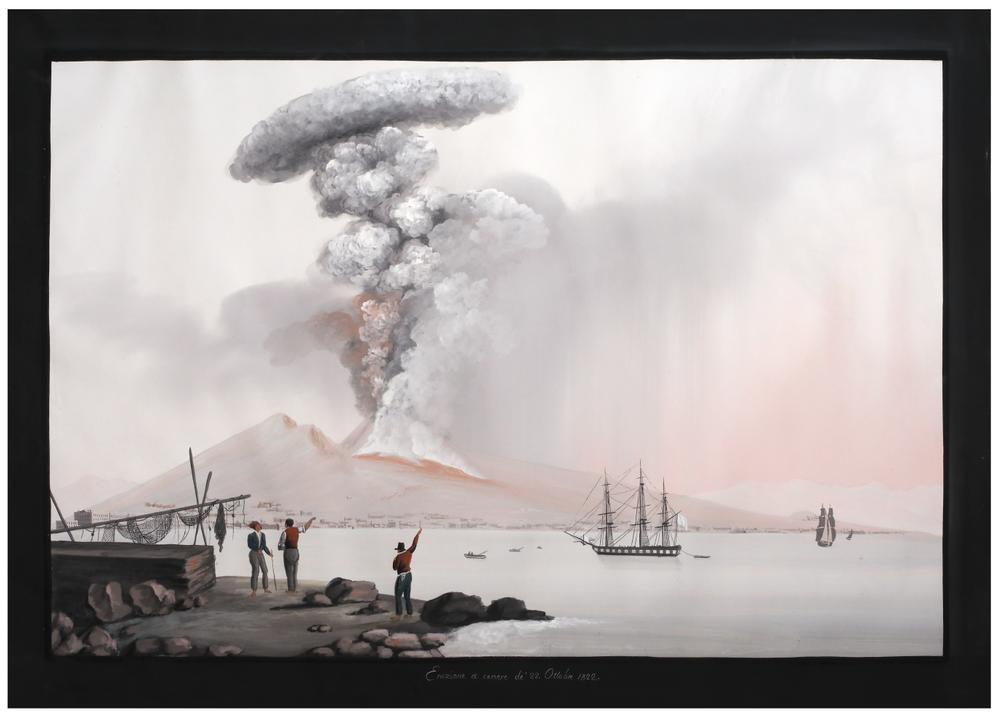 NEAPOLITAN SCHOOL, 19th CENTURY Eruption of Vesuviusinscribed and dated 'Eruzione a cenere de' 22. - Image 2 of 2