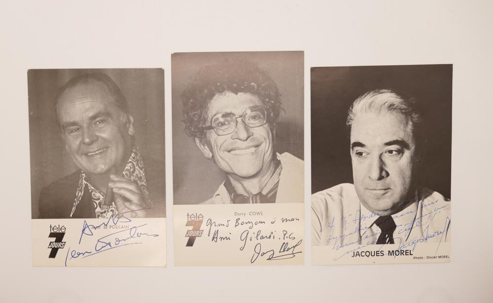 COLLECTION OF PHOTOGRAPHS AND POSTCARDS WITH AUTOGRAPHS BY NUMEROUS ARTISTS- 18 TV stars like
