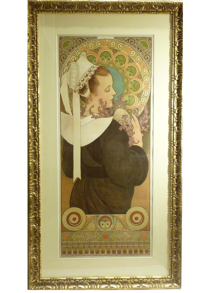 ALFONS MUCHA (1860 – 1939) Bruyère de Falaisesigned in plate (lower right) lithograph in colours - Image 2 of 2