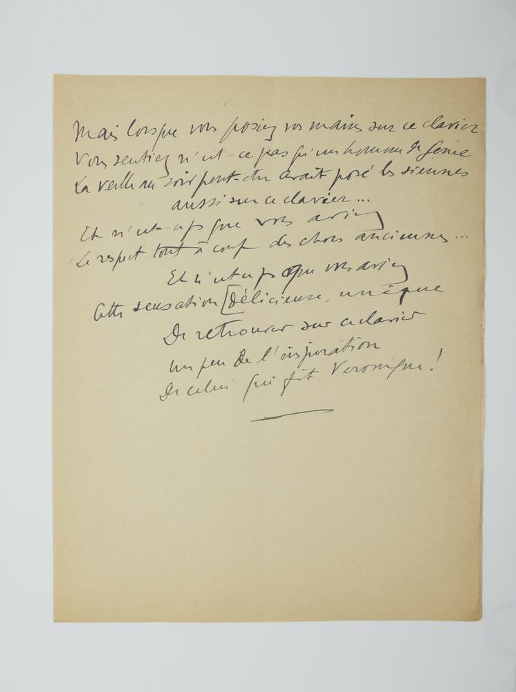 SACHA GUITRY (1885-1957)Autograph poem, in French. 10 pp. folio, erasures and corrections. - Image 10 of 10