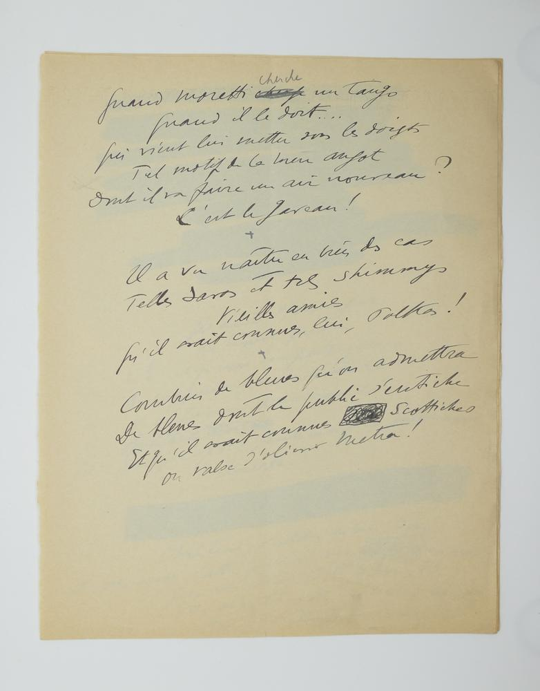 SACHA GUITRY (1885-1957)Autograph poem, in French. 10 pp. folio, erasures and corrections. - Image 8 of 10