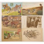 ALBUM CONTAINING 72 POSTCARDS WITH EQUESTRIAN THEME Early XX century 22 x 17 cm.