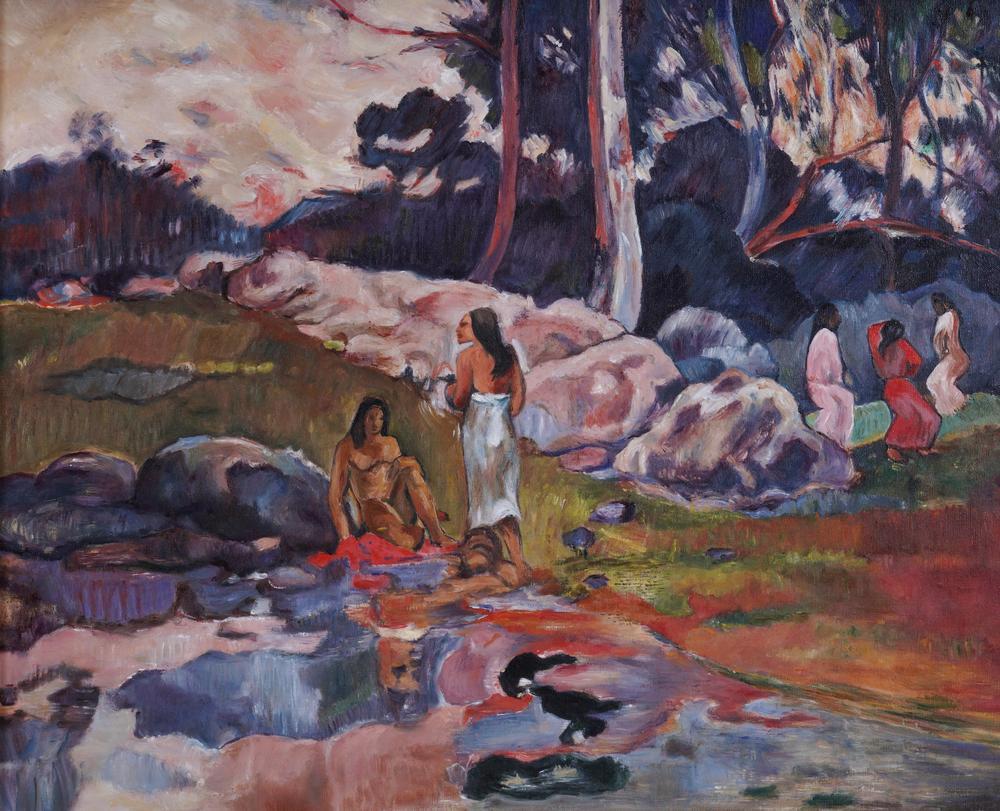 GALEAZZO TONINI VON MÖRL (1922-2011) Tahitian sceneoil on canvas 41.3 x 33.5 cm Provenance: Artist's