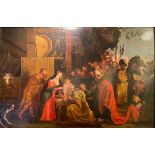 FOLLOWER OF PETER PAUL RUBENS, 17TH CENTURY The Adoration of the Magi Oil on canvas 55 x 83 cm