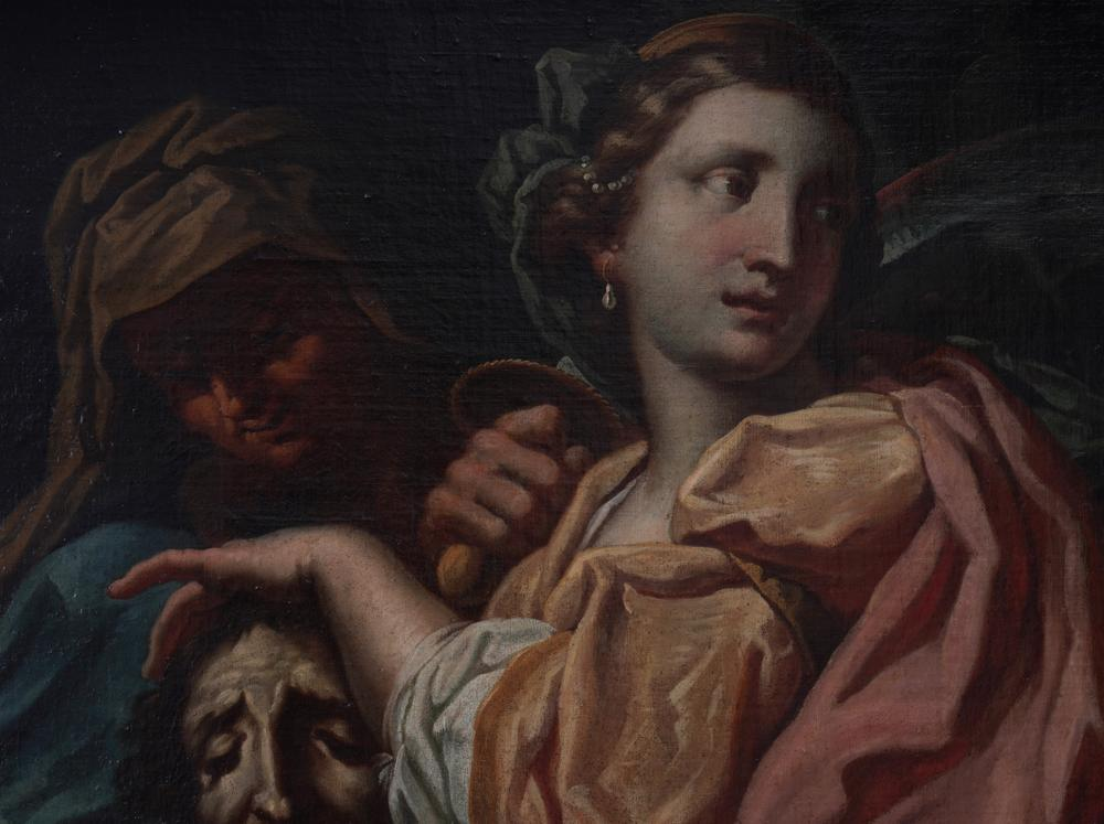 VENETIAN SCHOOL, 17th CENTURY Judith with the head of Holofernes Oil on canvas 75.5 x 98 cm - Image 2 of 2
