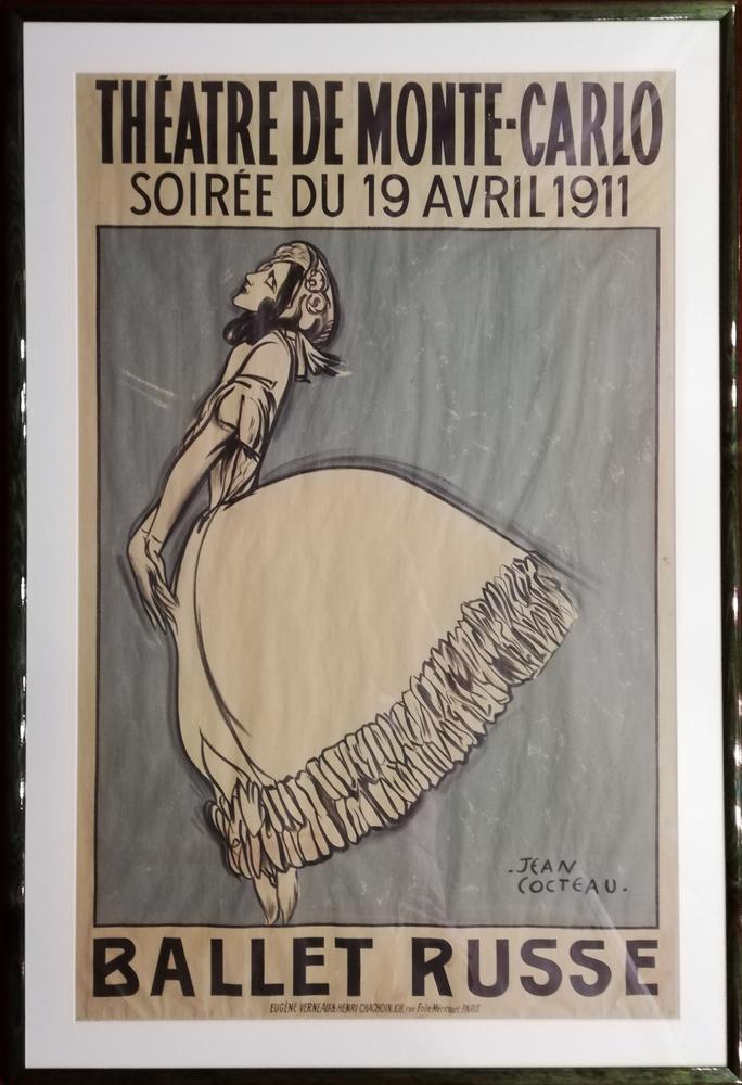 JEAN COCTEAU (1889-1963) THEATRE DE MONTE-CARLO, Soirée du 19 avril 1911 BALLET RUSSETamara - Image 2 of 2