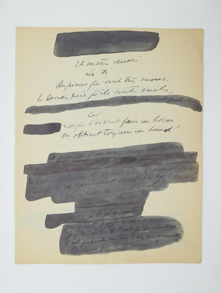 SACHA GUITRY (1885-1957)Autograph poem, in French. 10 pp. folio, erasures and corrections. - Image 5 of 10