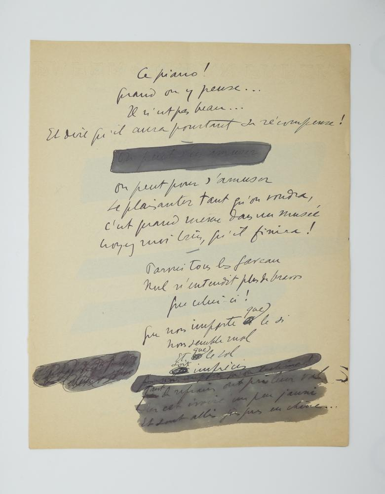 SACHA GUITRY (1885-1957)Autograph poem, in French. 10 pp. folio, erasures and corrections. - Image 6 of 10