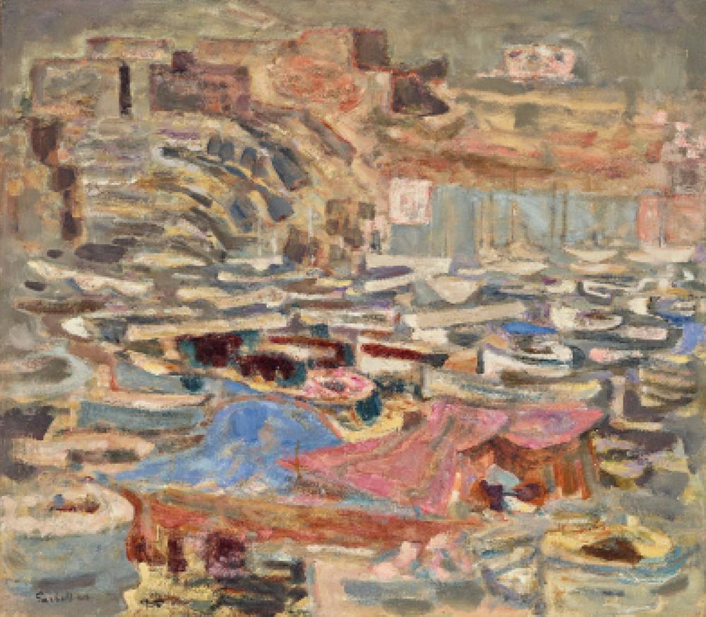 Alexandre Sacha Garbell (1903-1970) Port de Marseillesigned and dated 'Garbell 60' (lower left)
