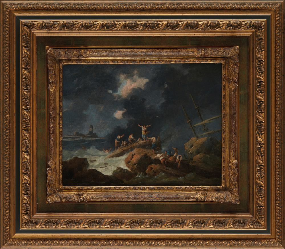 JEAN-BAPTISTE PILLEMENT (1728 - 1808) The ShipwreckIllegibly signed (lower left) Oil canvas 29 x - Image 2 of 3