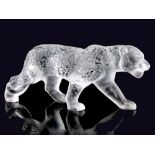 """CRYSTAL RAJAH JAGUAR, LALIQUEMarked """"Lalique France"""" on the hind paw Modelled in a standing and"""