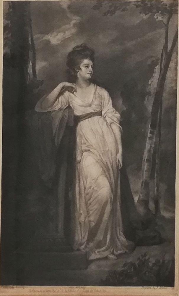 JAMES WALKER (1748–1808) AFTER GEORGE ROMNEY (1734 – 1802) Portrait of Frances Woodley, Mrs Henry