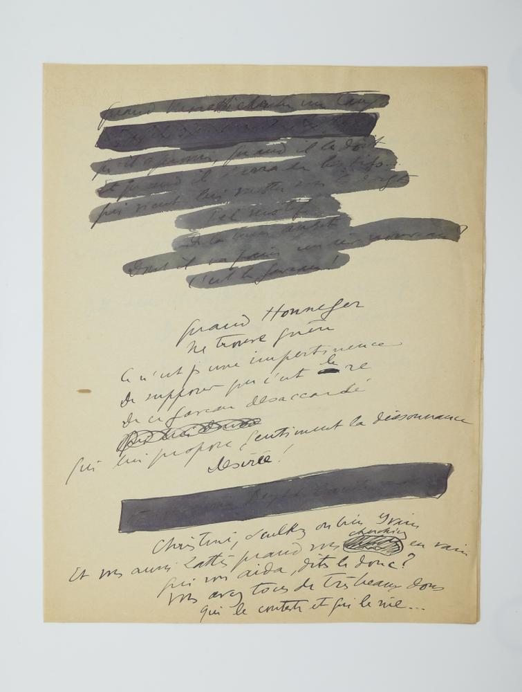 SACHA GUITRY (1885-1957)Autograph poem, in French. 10 pp. folio, erasures and corrections. - Image 9 of 10