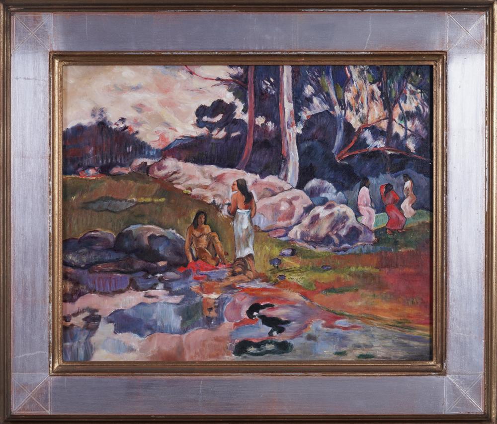 GALEAZZO TONINI VON MÖRL (1922-2011) Tahitian sceneoil on canvas 41.3 x 33.5 cm Provenance: Artist's - Image 2 of 3