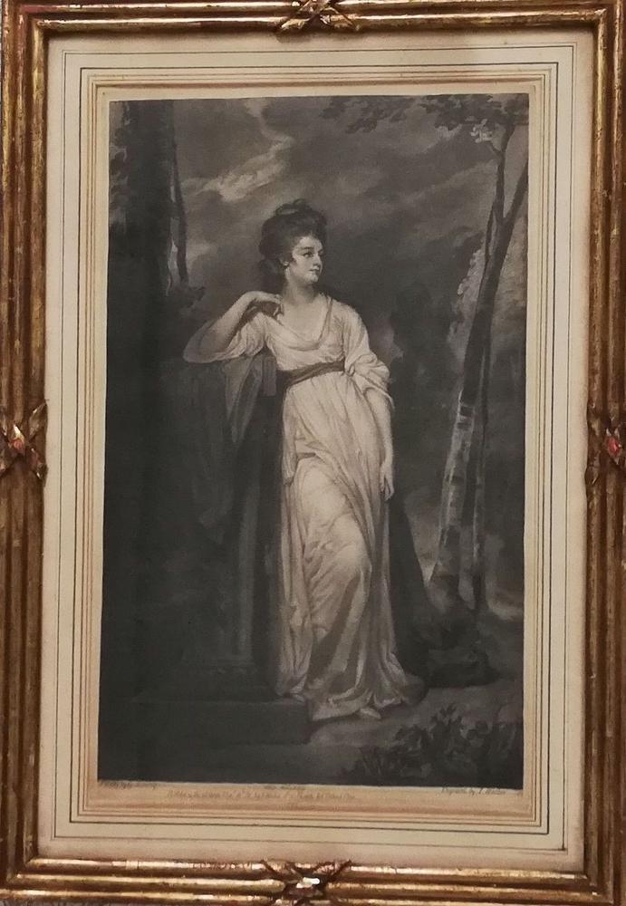 JAMES WALKER (1748–1808) AFTER GEORGE ROMNEY (1734 – 1802) Portrait of Frances Woodley, Mrs Henry - Image 2 of 2