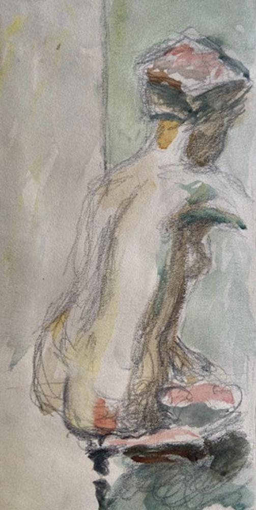 Henryk GOTLIB (1890-1966) (i) Nude, back view (ii) Nude seen from behind (iii) Model undressing (iv) - Image 2 of 4
