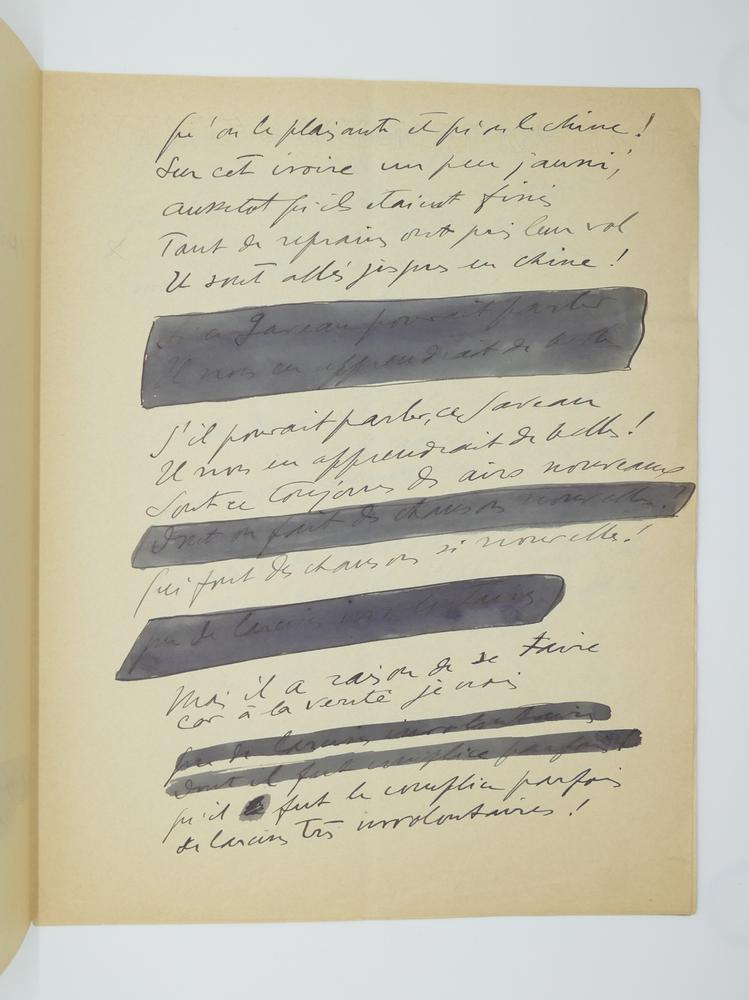 SACHA GUITRY (1885-1957)Autograph poem, in French. 10 pp. folio, erasures and corrections. - Image 7 of 10