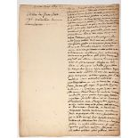 JEAN-JACQUES ROUSSEAU (1712- 1778)Autograph manuscript Extract from the Anabasis of Arrian, story of