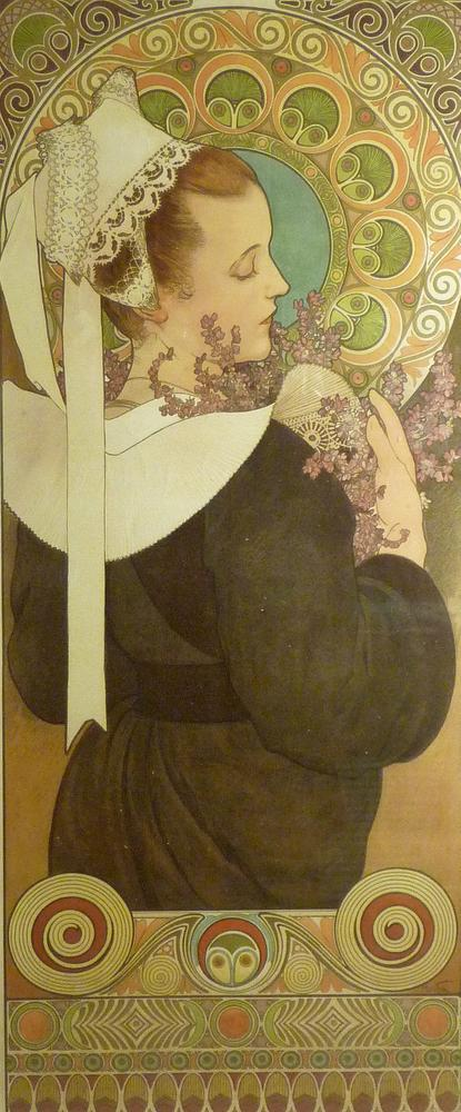 ALFONS MUCHA (1860 – 1939) Bruyère de Falaisesigned in plate (lower right) lithograph in colours