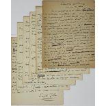 "EMILE ZOLA (1840-1902)ARTISTIC TALK Autograph manuscript signed ""Emile Zola"". 6 pp. small in-4, with"
