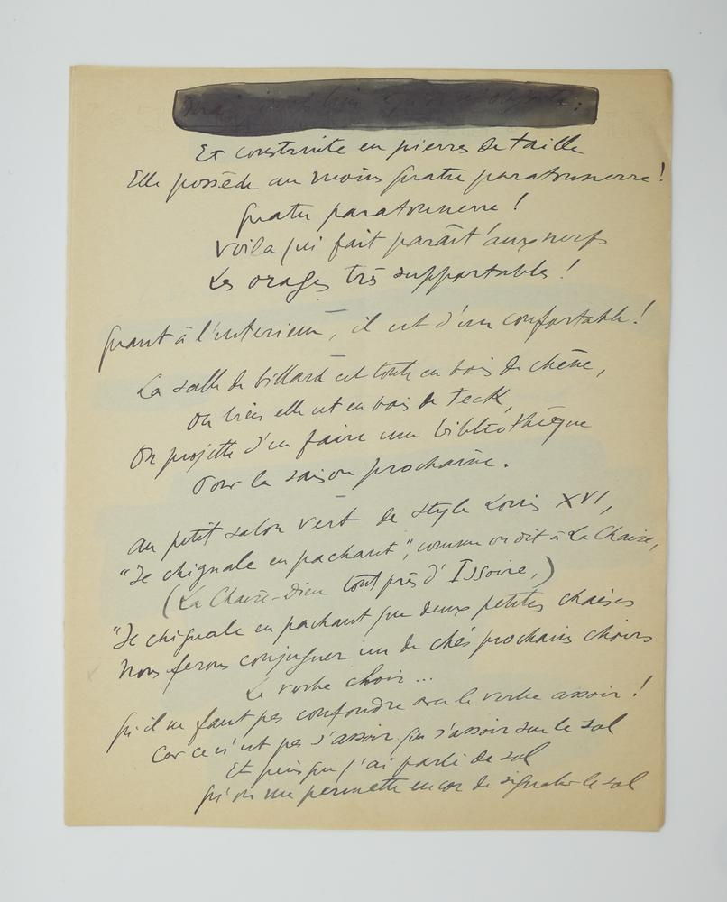 SACHA GUITRY (1885-1957)Autograph poem, in French. 10 pp. folio, erasures and corrections. - Image 4 of 10