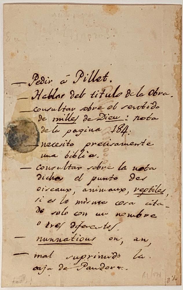 CONSTANTIN-FRANÇOIS CHASSEBŒUF DE LA GIRAUDAIS VOLNEY (COUNT OF VOLNEY) (1757-1820)Autograph - Image 2 of 2