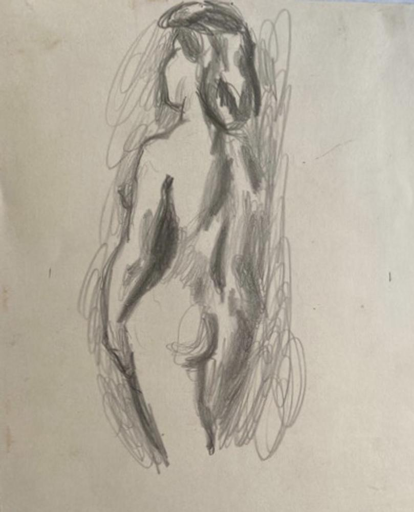 Henryk GOTLIB (1890-1966) (i) Nude, back view (ii) Nude seen from behind (iii) Model undressing (iv)