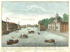 Unknown Western European engraver View of the Fontanka river from the Grotto and Reserve Palace