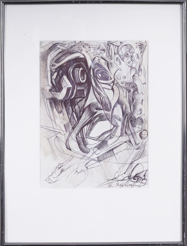 ERNST NEIZVESTNY (1925-2016) signed 'E.Neizvestny' (lower right) pencil on paper 30 x 20 cm - Image 2 of 3