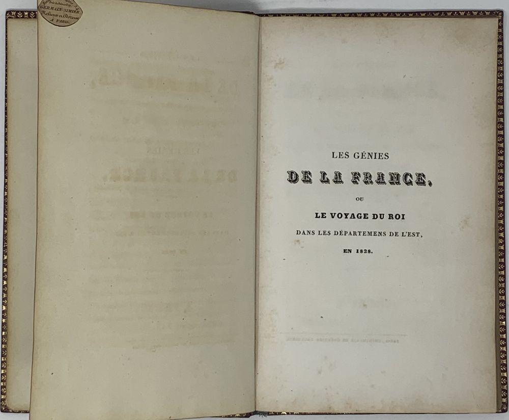 SUPEREx libris OF EMPEROR NIKOLAI I (1825-1855) Milly A., de. Les Génies de la France, ou le - Image 3 of 4